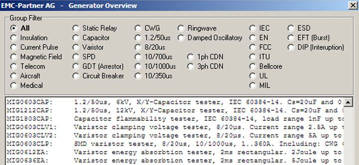 Software for EMC Test Systems: