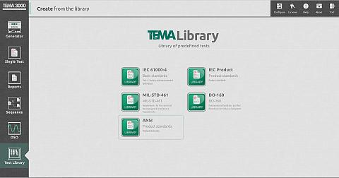 TEMA3000 LIBRARY - Huge library of predefined tests