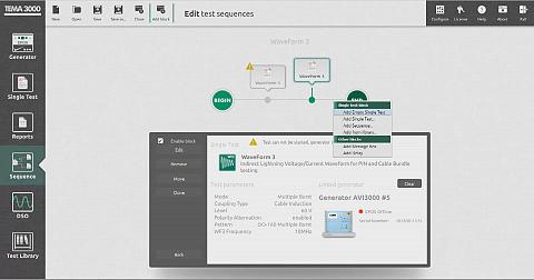 TEMA3000 Sequence - Create complete test sequences